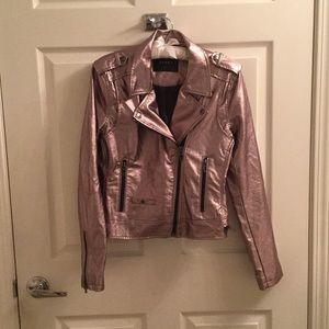 Blank NYC Gold Metallic Moto Jacket
